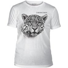 "Leopard ""Extinction is Forever"" White Unisex Tri-Blend T-Shirt | The Mountain | 545556 | Leopard T-Shirt"