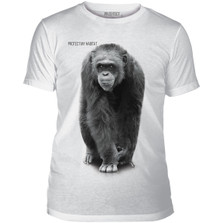 Chimpanzee Protect Unisex Tri-Blend T-Shirt | The Mountain | 545553 | Chimp T-Shirt