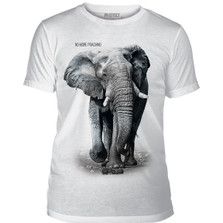 Elephant No More Poaching Unisex Tri-Blend T-Shirt | The Mountain | 545550 | Elephant T-Shirt