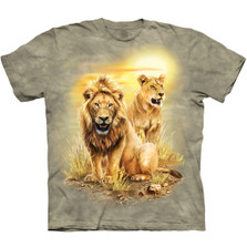 Lion Pair Unisex Cotton T-Shirt | The Mountain | 106317 | Lion T-Shirt