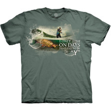 Fishing Every Day Unisex Cotton T-Shirt | The Mountain | 106312 | Fishing T-Shirt