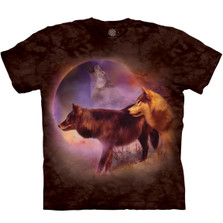 Wolf Spirit of the Moon Unisex Cotton T-Shirt   The Mountain   106285   Wolf T-Shirt