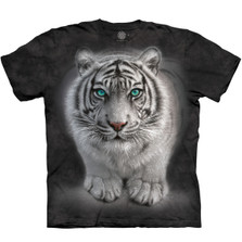 Wild Intentions White Tiger Unisex Cotton T-Shirt | The Mountain | 106274 | White Tiger T-Shirt