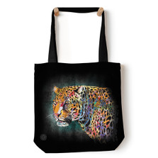 "Painted Cheetah 18"" Tote Bag 