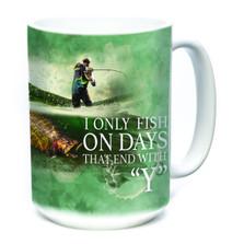Fishing Every Day 15oz Ceramic Mug | The Mountain | 576312 | Fishing Mug