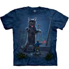 Jurassic Kitten Unisex Cotton T-Shirt   The Mountain   106268   Cat T-Shirt