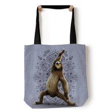 "Warrior Yoga Sloth 18"" Tote Bag 
