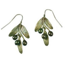 Olive Wire Earrings | Michael Michaud Jewelry | SS4781bzop -2