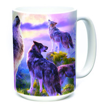 Wolf Pack Moon 15oz Ceramic Mug | The Mountain | 574112 | Wolf Mug