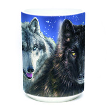 Star Wolves 15oz Ceramic Mug | The Mountain | 574851 | Wolf Mug