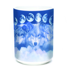 Wolf Moon Cycles 15oz Ceramic Mug | The Mountain | 575887 | Wolf Mug