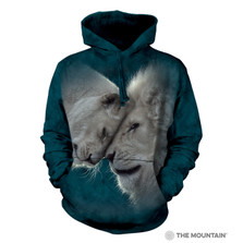 White Lions Love Unisex Hoodie | The Mountain | 725937 | Lion Sweatshirt