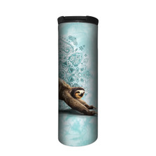 Downward Sloth Green Stainless Steel 17oz Travel Mug | The Mountain | 59648103661 | Sloth Travel Mug