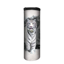 White Tiger Eyes of Ice Stainless Steel 17oz Travel Mug | The Mountain | 5964711 | White Tiger Travel Mug
