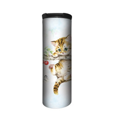 Cherry Kitten Stainless Steel 17oz Travel Mug | The Mountain | 5964661 | Kitten Travel Mug