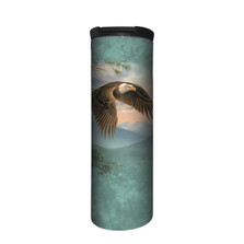 Majestic Moment Eagle Stainless Steel 17oz Travel Mug | The Mountain | Bald Eagle Travel Mug