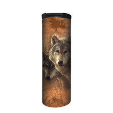 Woodland Companions Wolves Stainless Steel 17oz Travel Mug | The Mountain | 5964201 | Wolf Travel Mug