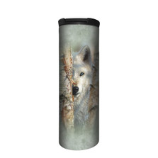 Focused Wolf Stainless Steel 17oz Travel Mug | The Mountain | 5964231 | Wolf Travel Mug