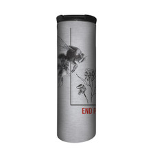 Bumblebee End Pesticide Stainless Steel 17oz Travel Mug | The Mountain | 5955761 | Bee Travel Mug