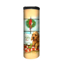 Puppy and Kitten Window Stainless Steel 17oz Travel Mug | The Mountain | 5963851 | Puppy Kitten Travel Mug