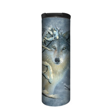 Broken Silence Wolf Stainless Steel 17oz Travel Mug | The Mountain | 5963901 | Wolf Travel Mug