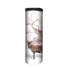 Wintertime Deer Stainless Steel 17oz Travel Mug   The Mountain   5963921   Deer Travel Mug