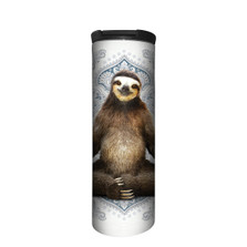 Peaceful Yoga Sloth Stainless Steel 17oz Travel Mug | The Mountain | 59628607481 | Sloth Travel Mug