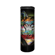 Painted Wolf Stainless Steel 17oz Travel Mug | The Mountain | 59632001001 | Wolf Travel Mug