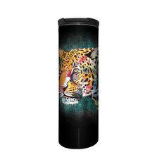 Painted Cheetah Stainless Steel 17oz Travel Mug | The Mountain | 59632101001 | Cheetah Travel Mug