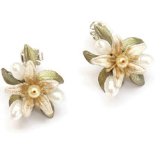 Orange Blossom Button Post Earrings | Michael Michaud Jewelry | SS4833BZYP