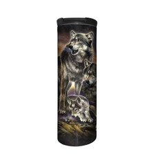 Wolf Family Sunrise Stainless Steel 17oz Travel Mug | The Mountain | 5962821 | Wolf Travel Mug