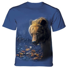 Foraging Bear Unisex Cotton T-Shirt | The Mountain | 106166 | Bear T-Shirt