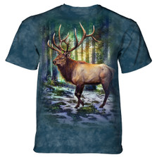 Sunlit Elk Unisex Cotton T-Shirt | The Mountain | 106185 | Elk T-Shirt