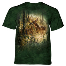 Golden Moment Deer Unisex Cotton T-Shirt | The Mountain | 106167 | Deer T-Shirt