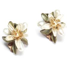 Orange Blossom Clip Earrings | Michael Michaud Jewelry | SS4834BZYP