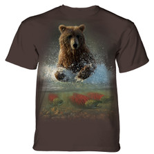 Lucky Fishing Hole Bear Unisex Cotton T-Shirt | The Mountain | 106165 | Bear T-Shirt