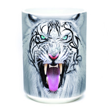 Tribal White Tiger Face 15oz Ceramic Mug | The Mountain | 57395309011 | White Tiger Mug