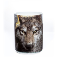 Wolf Face 15oz Ceramic Mug | The Mountain | 57324909011 | Wolf Mug