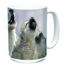 Singing Lessons Wolves 15oz Ceramic Mug | The Mountain | 57354009011 | Wolf Mug