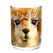 Big Face Alpaca 15oz Ceramic Mug | The Mountain | 57366209011 | Alpaca Mug