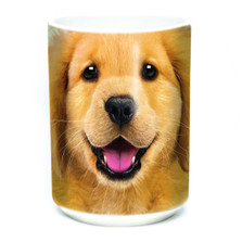 Golden Retriever Puppy Face 15oz Ceramic Mug | The Mountain | 57374309011 | Golden Puppy Mug