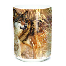 Winter Wolf Portrait 15oz Ceramic Mug | The Mountain | 57589109011 | Wolf Mug