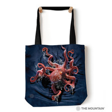 "Octopus Climb 18"" Tote Bag 