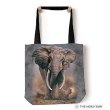 "African Elephant 18"" Tote Bag 