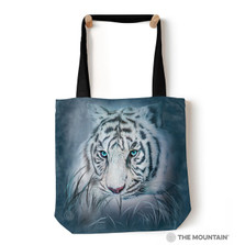 "Thoughtful White Tiger 18"" Tote Bag 