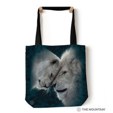 "White Lions Love 18"" Tote Bag 