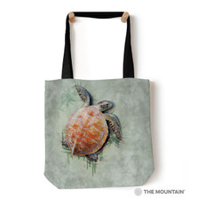 Sea Turtle Climb Tote Bag | The Mountain | Turtle Tote Bag | 9759472