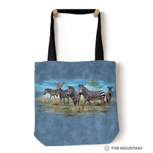 "Zebra Gathering 18"" Tote Bag 