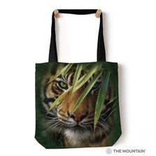 "Emerald Forest Tiger 18"" Tote Bag 