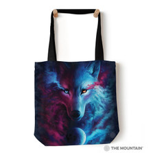 "Light and Dark Wolf 18"" Tote Bag 